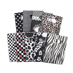 Sacs en plastique imprimés, rectangle, noir, 20x15 cm(X-PE-T003-15x20cm-01)