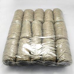 Corde de chanvre, chaîne de chanvre, ficelle de chanvre, 5 plis, pour la fabrication de bijoux, Pérou, 5 mm; 25 m / rouleau; 15 rouleaux / sac(OCOR-Q002-01D)