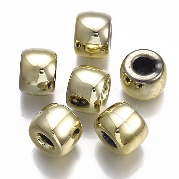 CCB Plastic European Beads, Large Hole Beads, Column, Light Gold, 16x12.5mm, Hole: 4.5mm; about 215pcs/500g(CCB-S160-196)