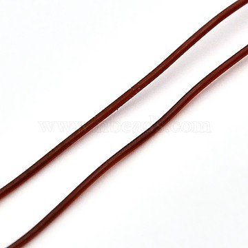Korean Elastic Crystal Thread, Stretch Bracelet String, Round Beading Cord, Sienna, 1.2mm, about 21.87 yards(20m)/roll(EW-L003-1.2mm-07)