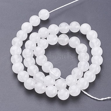15.3 inches Natural White Jade Beads Strands(X-GSR8mmC138)-3
