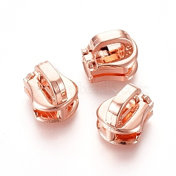 extracteur de tirette d'alliage de zinc, accessoires du vêtement, or rose, 10x9x8.6 mm, trou: 4.5x2 mm(PALLOY-WH0067-95D)