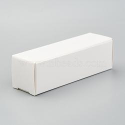 Foldable Kraft Paper Box, for Lipstick Packaging, Rectangle, White, 15.9x5x0.15cm(CON-K008-D-09)