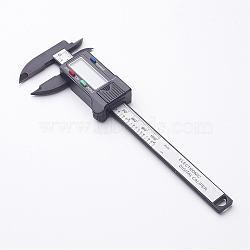Étrier en plastique vernier électronique, plage de mesure: 0-100 mm, noir, 80x60x14mm(TOOL-J010-01)