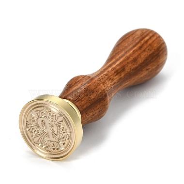 Brass Retro Initials Wax Sealing Stamp(AJEW-F045-D16)-1