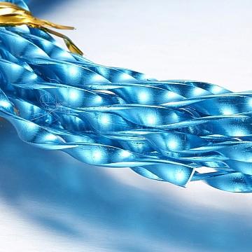 Aluminum Wire, Twist, Deep Sky Blue, 3mm(X-AW-D004-3x1mm-16)