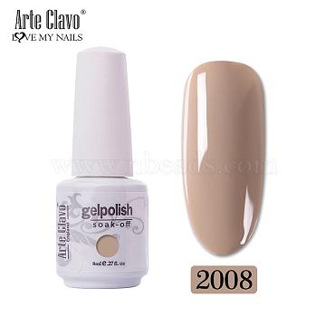 8ml Special Nail Gel, for Nail Art Stamping Print, Varnish Manicure Starter Kit, Dark Goldenrod, Bottle: 25x66mm(MRMJ-P006-G008)