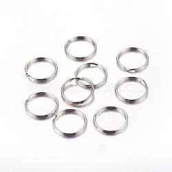 Porte-clés fendus en fer, anneau, platine, 20x2 mm; diamètre intérieur: 17 mm(X-IFIN-C057-20mm)