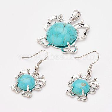 Turquoise Butterfly Synthetic Turquoise Earrings & Pendants