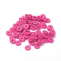 Eco-Friendly Handmade Polymer Clay Beads, Disc/Flat Round, Heishi Beads, Medium Violet Red, 4x1mm, Hole: 1mm, about 55000pcs/1000g