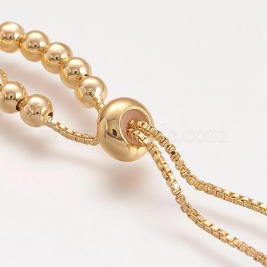 Латунь шарик цепь ожерелье материалы(NJEW-F151-01G)-2