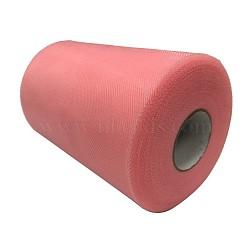 Tissu de filet, Tissu à carreaux en tulle pour la fabrication de jupe, corail clair, 6'' (15 cm); environ 100 mètres / rouleau (91.44 m / rouleau)(OCOR-P010-D-C59)