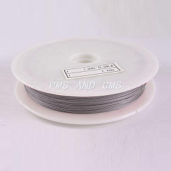 1 Roll Beading Wirer, Tiger Tail Wire, Nylon-coated Steel, LightGrey, 0.45mm, 70m/roll(X-TWIR-70R0.45MM-1)