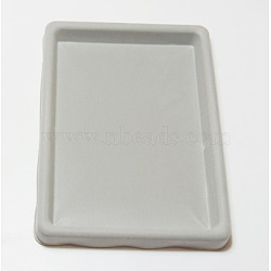 Panneaux en plastique de conception de perles, rectangle, grises , 27x20x2 cm(X-TOOL-H004-1)