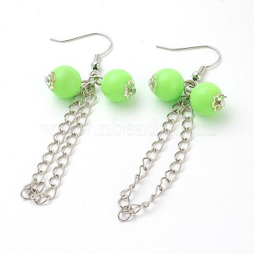LawnGreen Acrylic Earrings