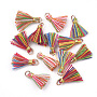 Light Gold Colorful Polycotton Charms(X-FIND-S281-01)