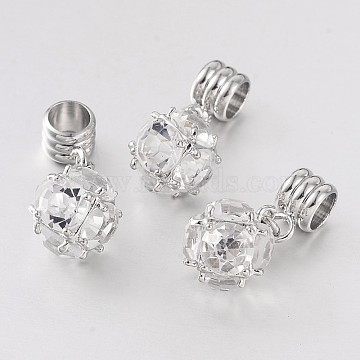 24mm Others Brass+Cubic Zirconia Dangle Beads