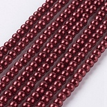 3mm Red Round Glass Beads(X-HY-A002-3mm-RB038)