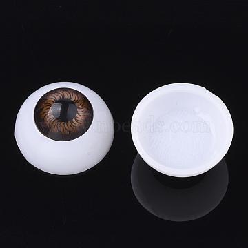 Craft Plastic Doll Eyes, Stuffed Toy Eyes, Saddle Brown, 20x10mm(DIY-PH0019-63A-20mm)