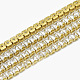 Brass Square Cubic Zirconia Chains(CHC-N014-09-A-FF)-1