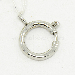 Ожерелье проектных материалов 304 пружина из нержавеющей стали кольцо застежки, цвет нержавеющей стали, 5 мм, отверстие : 1 мм(STAS-O040-A-04)