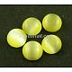 Cat Eye Glass Cabochons(X-CE074-25-16)-1