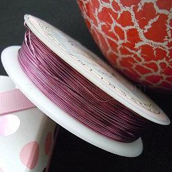 Copper Jewelry Wire, Flamingo, 26 Gauge, 0.4mm; 12m/roll(CWIR-CW0.4mm-19)