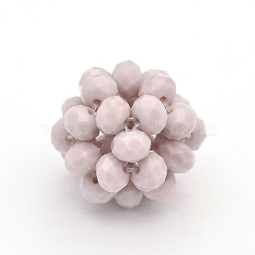 14mm LavenderBlush Round Glass Beads