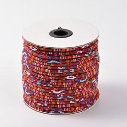 tissu de corde cordes ethniques, firebrick, 4 mm; environ 50 verges / rouleau (150 pieds / rouleau)(OCOR-F003-4mm-04)