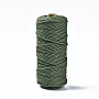 Cotton String Threads, Macrame Cord, Decorative String Threads, for DIY Crafts, Gift Wrapping and Jewelry Making, Dark Olive Green, 3mm, about 109.36 yards(100m)/roll