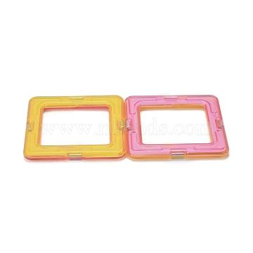DIY Plastic Magnetic Building Blocks, 3D Building Blocks Construction Playboards, for Kids Building Toys Gift Accessories, Square, Random Single Color or Random Mixed Color, 65x65x6mm(DIY-L046-09)