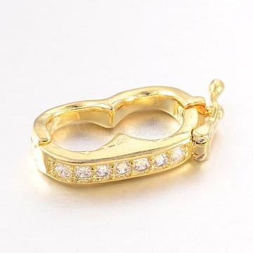 Golden Brass+Cubic Zirconia Clasps