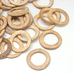 Wood Jewelry Findings Coconut Linking Rings, BurlyWood, 38x2~5mm(X-COCO-O006A-04)