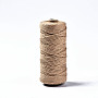 Cotton String Threads, Macrame Cord, Decorative String Threads, for DIY Crafts, Gift Wrapping and Jewelry Making, Camel, 3mm, about 109.36 yards(100m)/roll