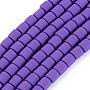 Blue Violet Column Polymer Clay Beads(CLAY-ZX006-01G)