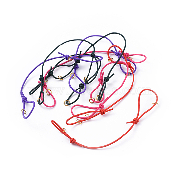 Elastic Cord Bracelet Making With Iron Jumprings Adjustable Mixed Color 130mm