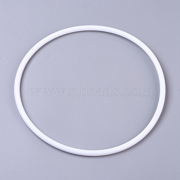 Hoops Macrame Ring, for Crafts and Woven Net/Web with Feather Supplies, White, 300x7.2mm, Inner diameter: about 285.6mm(X-DIY-WH0157-47H)