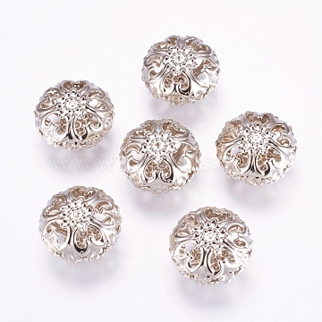 Spacer Beads, Iron, Platinum Color, 23mm in diameter, 12.5mm thick, hole: 2mm(X-E060Y)