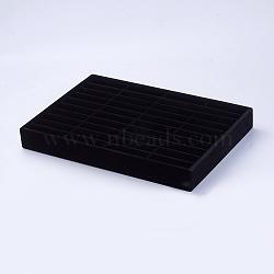 Affichages de bandeau en bois, couvrir avec de la peluche de glace, rectangle, noir, 35.4x24.3x4.1 cm(RDIS-G005-16A)
