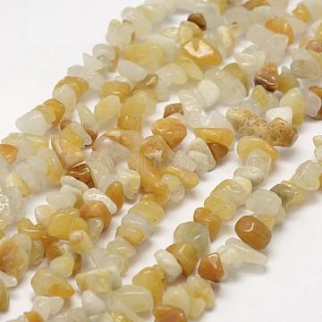 7mm Yellow Chip Topaz Jade Beads