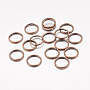 Red Copper Ring Iron Close but Unsoldered Jump Rings(X-JRR10mm-NF)