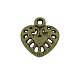 Tibetan Style Alloy Hollow Heart Charms(X-TIBEP-0249-AB-FF)-1