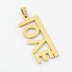 Fashionable Valentine's Day Gift Golden 304 Stainless Steel Love Pendants(X-STAS-J001-39G)-2