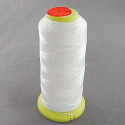 Fil à coudre de nylon, blanc, 0.2mm, environ 800 m / bibone (NWIR-Q005B-44)