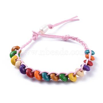PearlPink Wood Bracelets