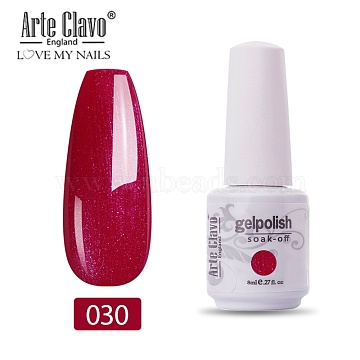 8ml Special Nail Gel, for Nail Art Stamping Print, Varnish Manicure Starter Kit, FireBrick, Bottle: 25x66mm(MRMJ-P006-I005)