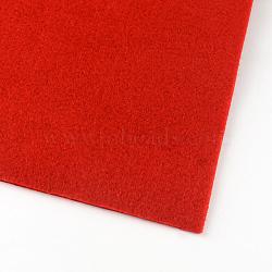 Feutre à l'aiguille de broderie de tissu non tissé pour l'artisanat de bricolage, rouge, 30x30x0.2~0.3 cm; 10 pcs / sac(DIY-R061-04)