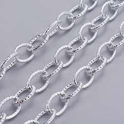 Plaqué chaînes de câbles en aluminium, non soudée, 20x14x3 mm(X-CHA-K12619-K15)