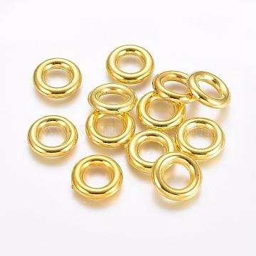 CCB Plastic Linking Rings, Golden, 15.5x3mm, Inner Diameter: 8mm(CCB-E052-26G)