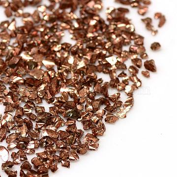 Piezo Glass Beads, No Hole Beads, Chip, SaddleBrown, 1.5~2x1.5~2mm; about 440~450g/bag(PIEG-R001-D06)